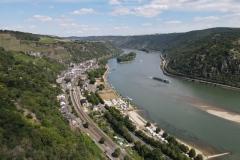 Luftbild von Bacharach am Rhein
